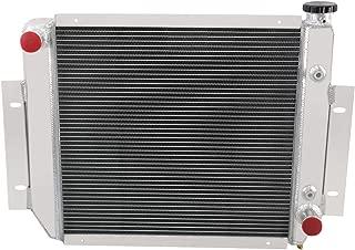 OzCoolingParts 72-87 Jeep CJ Series Radiator, 2 Row Core Full Aluminum Radiator for 1972-1987 73 74 75 76 77 78 79 80 81 82 83 84 85 86 Jeep CJ5 CJ6 CJ7 Chevy V8 Sbc Engine