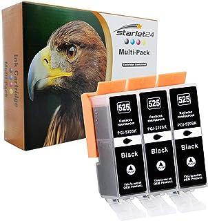3x D&C Druckerpatrone BLACK kompatibel für Canon PGI 525 iP4800 iX6550 MG5100 MX710