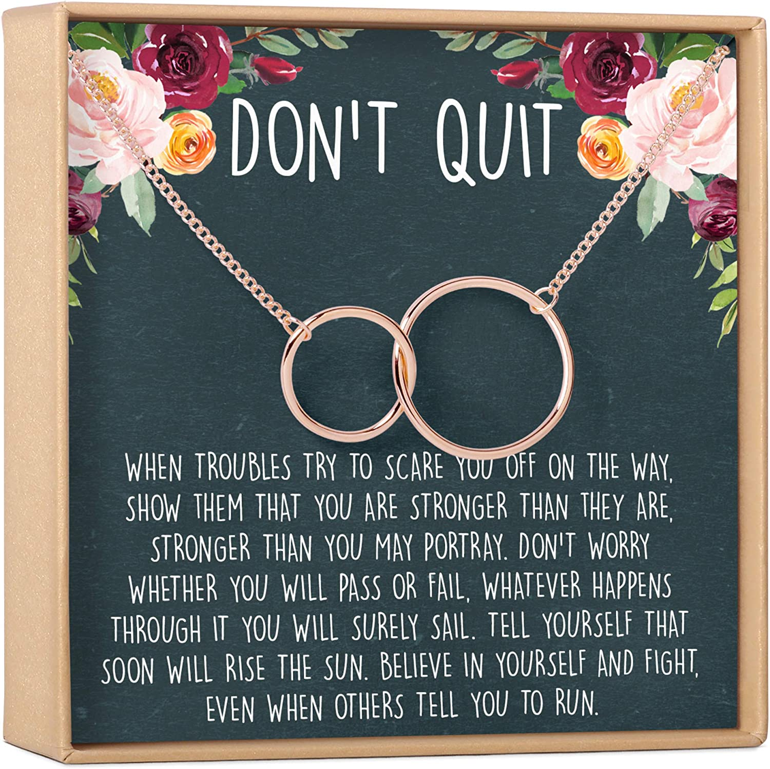 Inspirational Gift Necklace: half Quotes Very popular Encouragement