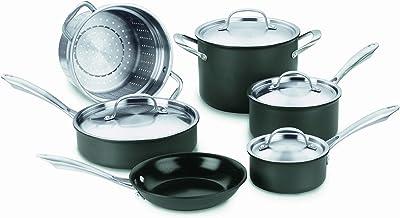 Cuisinart GG-10 GreenGourmet Hard-Anodized Nonstick 10-Piece Cookware Set