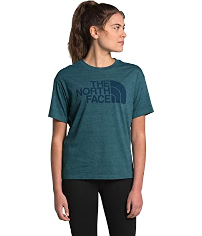 The North Face Half Dome Short Sleeve Tri-Blend Tee (Mallard Blue Heather) Women