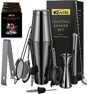 Cocktail Shaker - Koviti 12 Piece Bartender Kit - Stainless Steel Cocktail Shaker Set, Premium Bar Set for Home, Bars, Par...