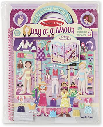 Melissa & Doug Puffy Sticker Activity Book: Day of Glamour - 196 Reusable Stickers
