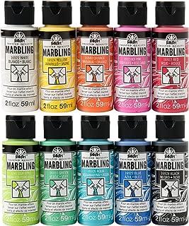 FolkArt PROMOFAMP10 Marbling Pouring Set Paint, Multicolor