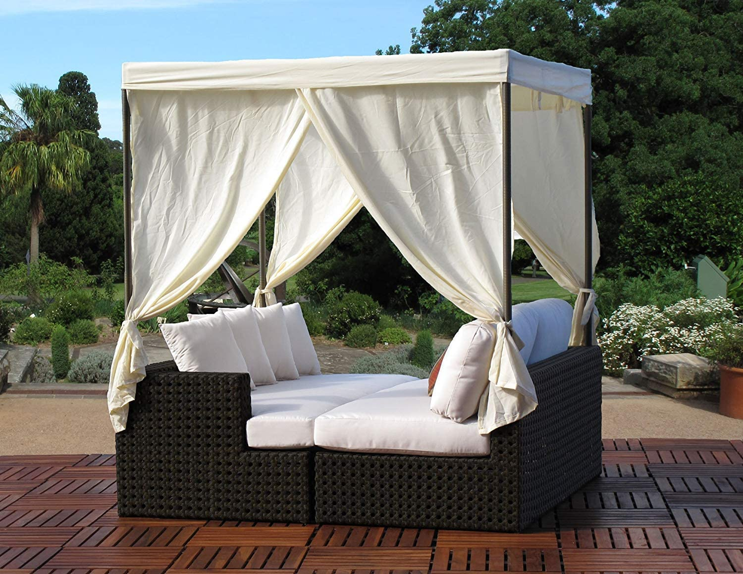 Very popular! Contract Department store Quality Outdoor Woven Assembled Wicker Daybed Fully