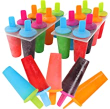 Mr Kitchen's Neon Popsicle Mold, Popsicle Maker, (Set of 2) Popsicle Molds;16 Popsicles