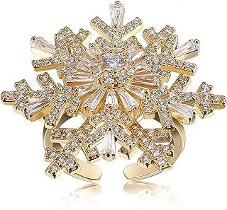 PLTGOOD الأزياء والمجوهرات خواتم قابلة للتعديل للنساء - خاتم إصبع مفتوح، 14K مطلية بالذهب خواتم المفاصل خاتم الزفاف