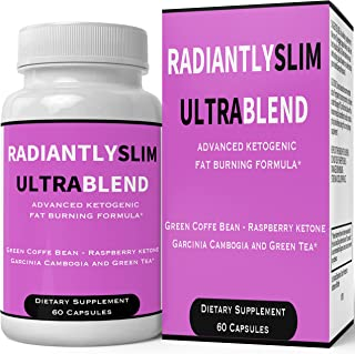 Radiantly Slim Ultra Blend Pills Weight Loss Supplement - Extreme Weightloss Lean Fat Burner   Advanced Thermogenic Fat Loss Formula Pastillas for Women Men Natural Original by nutra4health Brand
