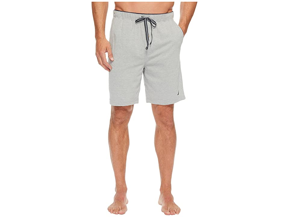 Nautica Knit Sleep Shorts (Grey Heather) Men