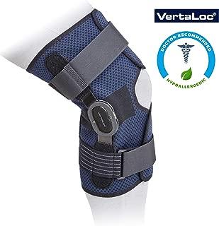 VertaLoc DynaLite Hinged Knee Brace Hypoallergenic and Light Weight with Adjustable Locking Metal Stops - Medium