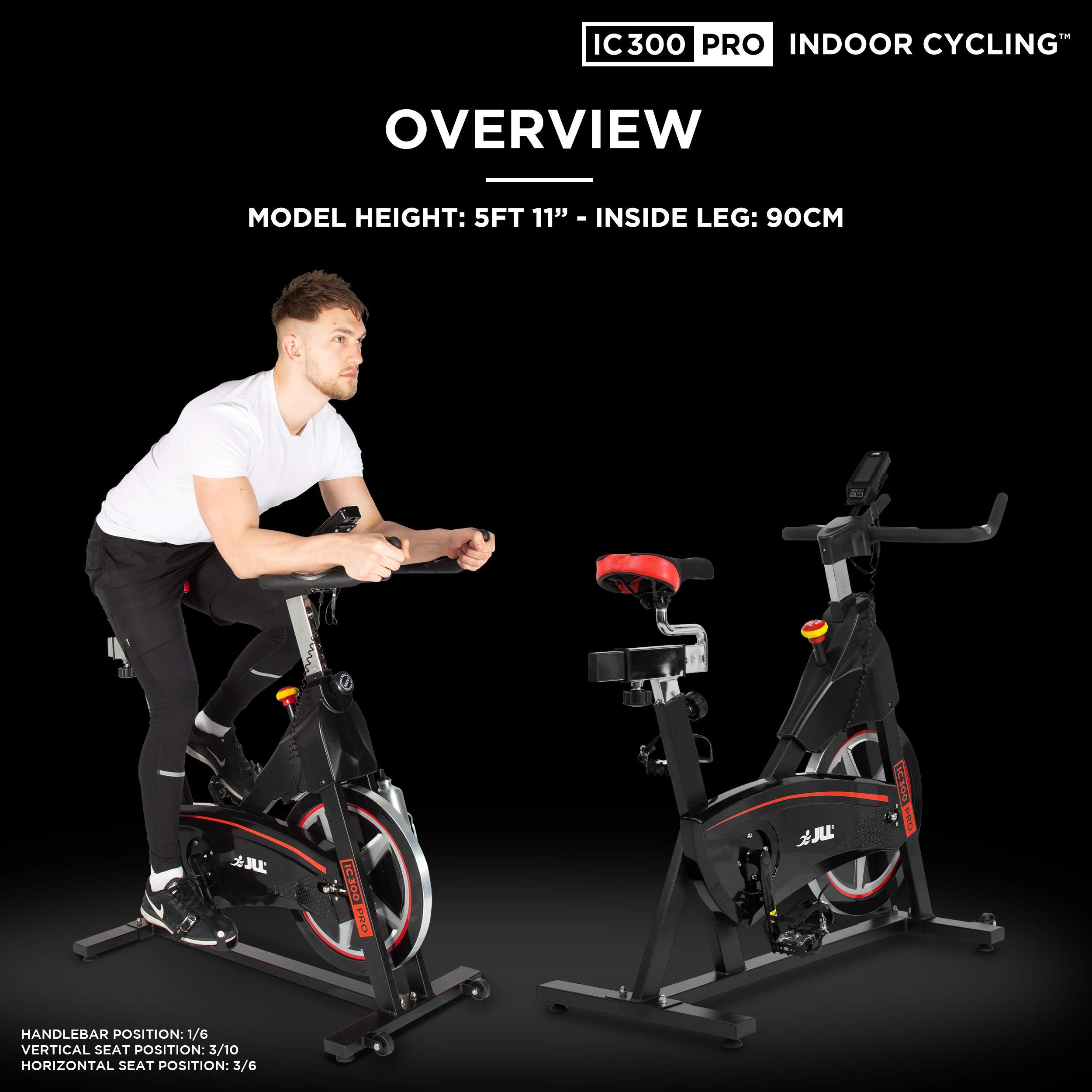 JLL – IC300 PRO Bicicleta estática, 20 kg volante con resistencia ...