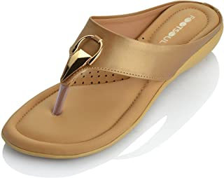 Footsoul Women's Bravia Slippers (Gold) (FSL-168)
