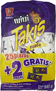 Mini Takis Fuego Barcel Mexican Version Famous Popular Classic Snacks Spicy Lemon Corn Chip Sticks Double Bag Bulk Deal Fancy Appetizers grab varieties & red hot flavor picante limon Bimbo botana rica