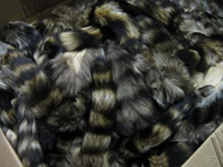 Large Tanned Real Raccoon Tail Coon Fur Crafts #1 Grade (1 PIECE)