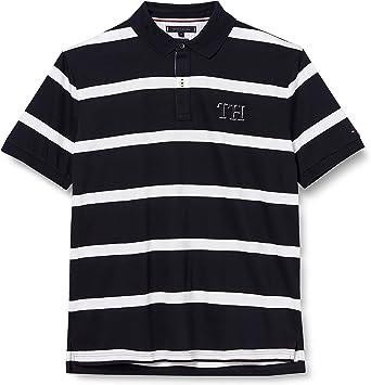 Tommy Hilfiger Block Stripe Regular Polo Camisa para Hombre