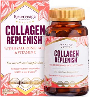 Reserveage, Collagen Replenish Capsules, Skin and Nail Supplement, Supports Collagen and Elastin Production, 120 capsules ...