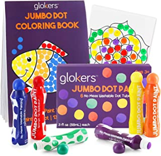 Glokers Preschool Art Set – 6 Jumbo Dot Paint Markers, 25-Page Dot Art Coloring Book