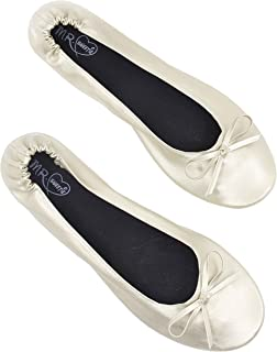 MR.SWEETIE Womens Wedding Gift Foldable Portable Flexable Outsole Roll Up Ballet Flat Shoes
