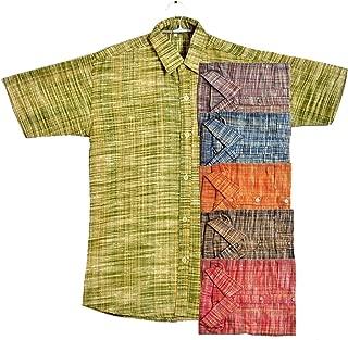 Men Cotton Khadi Ethnic Half Sleeve Shirt