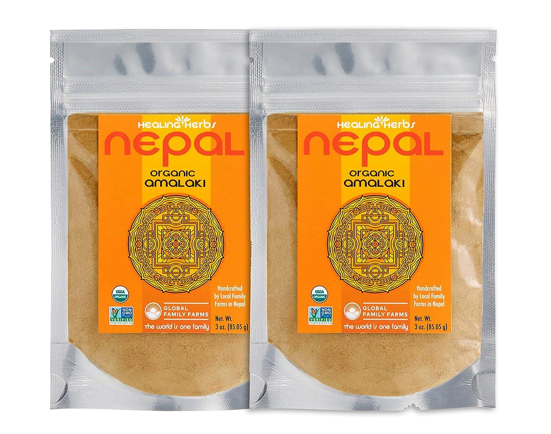 Global Family Farms Organic Amla High material Powder each 2 3 bags 4 years warranty Oz of