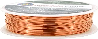 Mandala Crafts Thin Copper Wire for Jewelry Making, Sculpting, Weaving, Hobby, Gem Metal Wrap; Soft and Bendable; 1 Spool (24 Gauge 28M, Bare Copper)