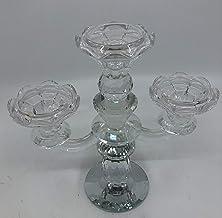 3 أذرع كريستال شمعة حامل طويل رخيص زفاف كريستال شمعدان قطعة مركزية
