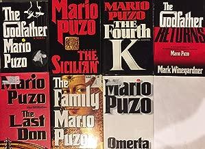 Mario Puzo Godfather Hardcover Novel Collection 5 Book Set
