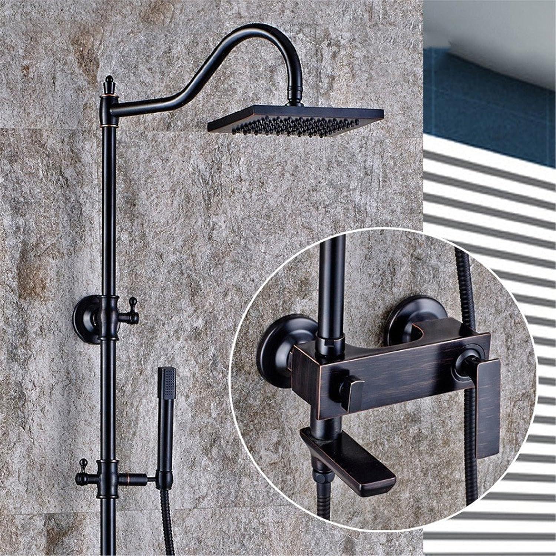 FHLYCF europischen stil retro - bronze - dusche, voll kupfer - dusche, bad, dusche aufgedreht hand aufgehoben werden kann