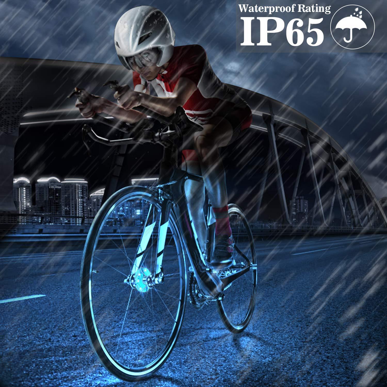 LITSPOT luces recargables del eje de rueda de la bici, impermeable ...