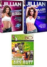 4 Workout DVD Set Jillian Michaels Extreme Shed & Shred + Killer Abs & Tae Bo Ultimate Abs / Butt moves fitness body pack
