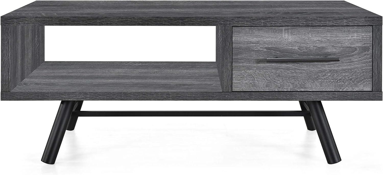 Christopher Knight 予約販売品 Home TABLE Sonoma + Black Gray WEB限定 Oak