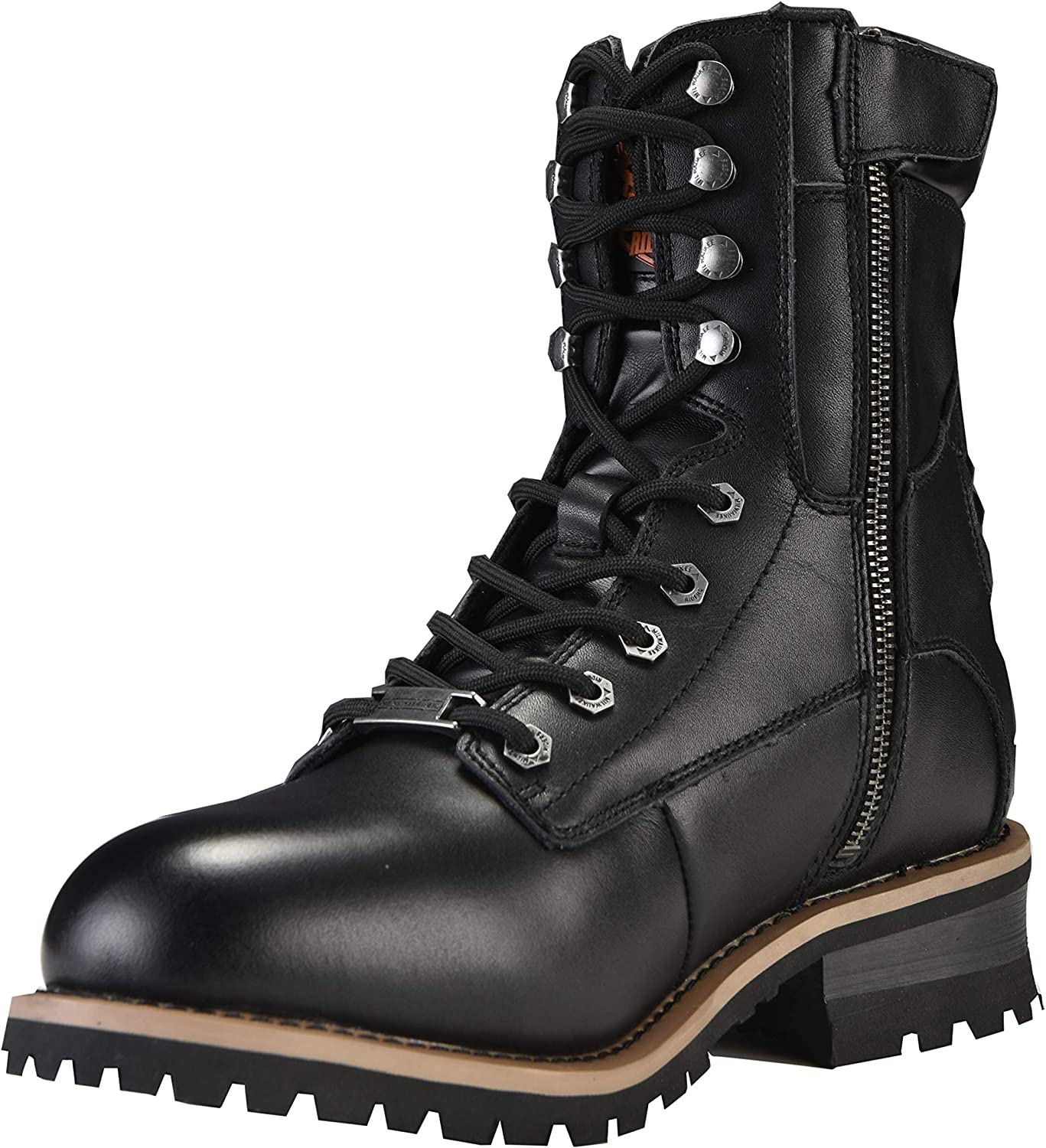 MILWAUKEE RIDERS Motorcycle Army Workwear Wide Cycling Boots Combat Boots