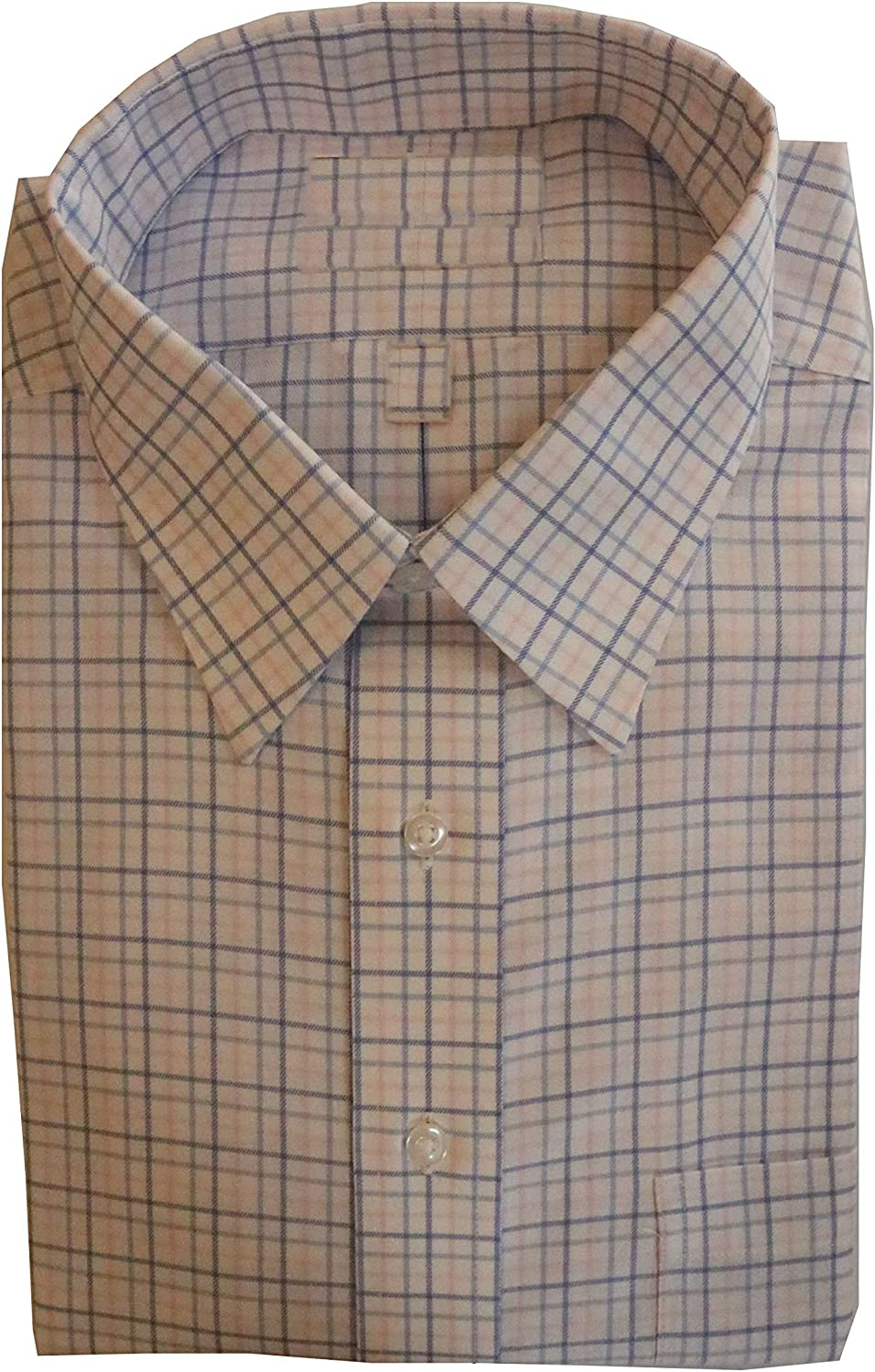Gold Label Roundtree & Yorke Non-Iron Regular Point Collar Check Dress Shirt G16A0162 Pink Multi