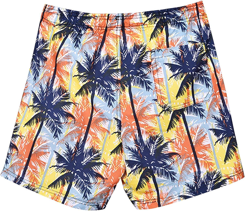 LEIYAN Mens Cotton Hawaiian Shorts Casual Drawstring Relaxed Fit Summer Beach Yoga Shorts Gym Workout Activewear Shorts
