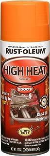 Rust-Oleum 248905 Automotive Rust Preventive High Heat Spray Paint, 12 Oz Aerosol Can, Flat Orange