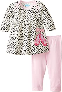 BON BEBE Baby Girls` Bow Top and Legging Two-Piece Set