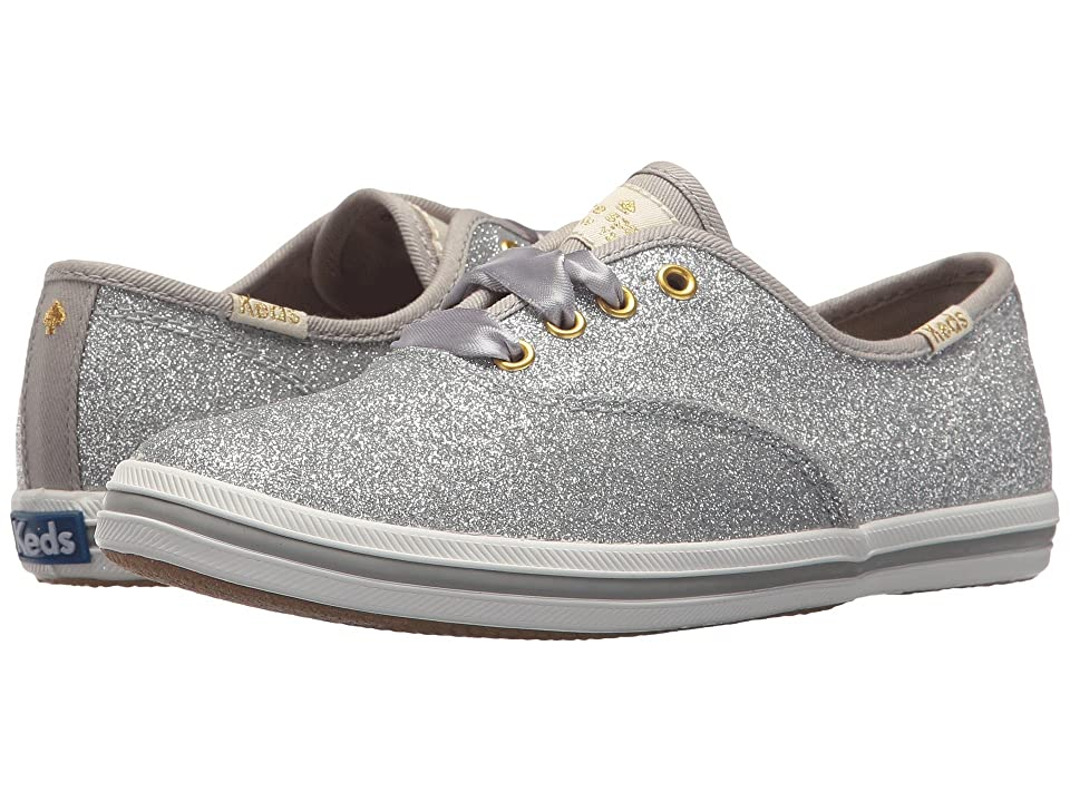 Keds x kate spade new york Kids Champion Glitter (Little Kid/Big Kid) (Silver) Girl