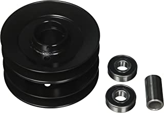 Oregon 44-103 Double Pulley Assembly with Bearings, Grey/Black