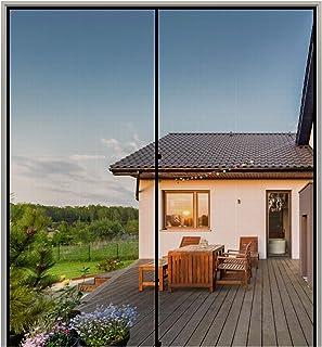 MAGZO Magnetic Screen Door 72'' x 80'' Grey, Durable Fiberglass Screen Doors with Magnets Fit Door Size 72