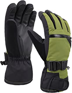 Verabella Men's Thinsulate Insulation Touchscreen Snow Ski Gloves w/Zipper Pocket
