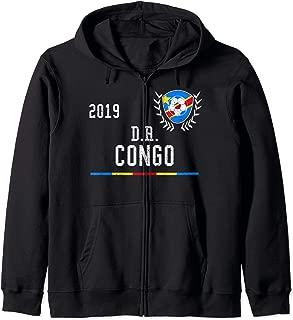 DR Congo Football Jersey 2019 DR Congo Soccer Jersey Zip Hoodie