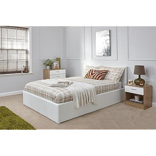 King Size Bed Frame White Amazon Co Uk