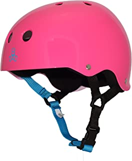 Triple Eight Sweatsaver Liner Skateboarding Helmet, Neon Fuschia Glossy, X-Small
