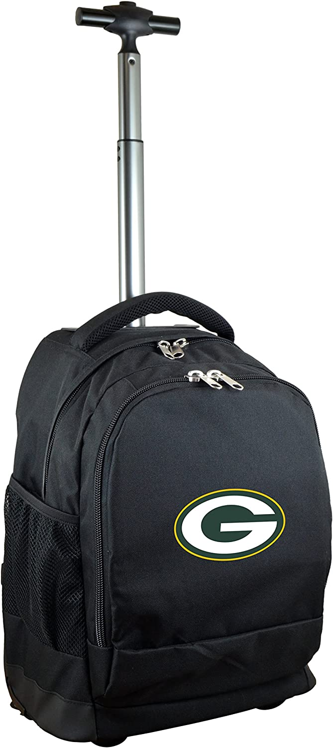 Max 81% OFF NFL Wheeled Backpack 19-inches Rare Black