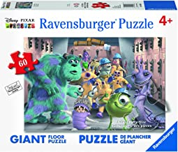 Ravensburger Disney Monsters Inc. The Whole Gang Floor 60 Piece Jigsaw Puzzle for Kids – Every Piece is Unique, Pieces Fit Together Perfectly