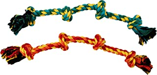 Outward Hound Ropiez 4-Knot Rope Tug Dog Toy 2 Pack - Chew, Toss, Play, Large