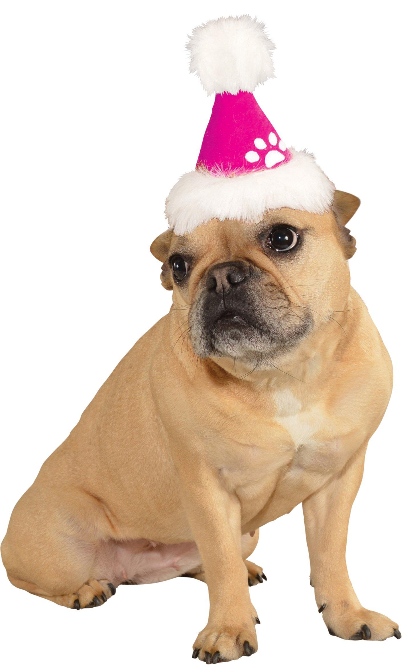 Rubies 粉色圣诞帽宠物服装配饰 多种颜色 Medium/Large