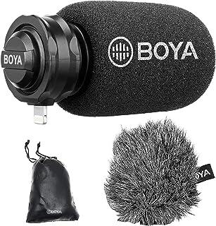 جهاز iPhone Lightning Plug & Play Microphone, BOYA DM200 مكثف قطبي مع منفذ إضاءة معتمد من MFI iPhone وApple Mic متوافق مع ...