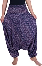 Lannaclothesdesign Women's Harem Pants Aladdin Genie Baggy Hippie Jumpsuit Playsuit