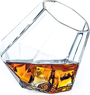 Dragon Glassware Diamond Whiskey Glasses, Premium Designer Tumblers for Spirits and Wine, 10-Ounces, Gift Boxed - Set of 4